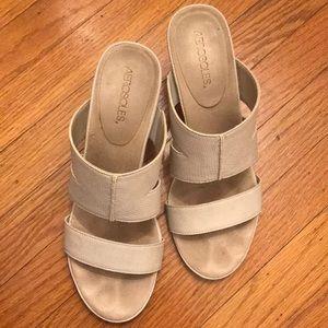 Beige sandals (backless heels)
